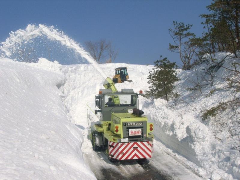 ロータリー除雪車です